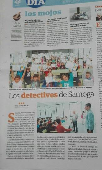 Detectives en el cole El Día CEIP Samoga Concísate Félix Morales
