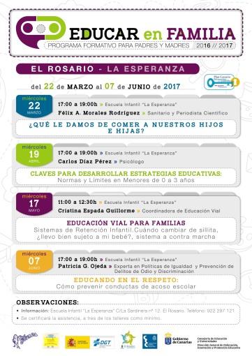 Educar en Familia 16-17 Félix Morales Educación Consejería Concísate salud ciencia consumo Canarias