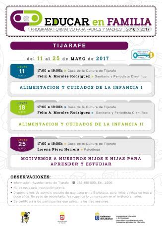 Educar en Familia padres madres Canarias Félix Morales Concísate alimentación infancia salud consumo La Palma Tijarafe