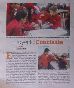 El Día noticia Concísate taller publicidad, ciencia salud consumo Dominicas La Laguna jóvenes 1