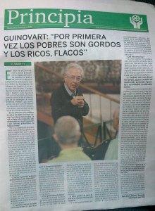 Entrevisa Concísate Guinovart obesidad pobres ricos Diario Avisos