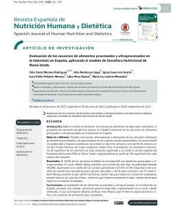 portada artículo Félix A. Morales Concísate alimentación publicidad España televisión semáforo nutricional