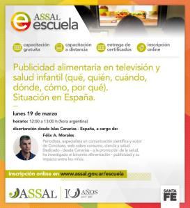 Félix A. Morales Concísate Agencia Santafesina Seguridad Alimentaria Argentina publicidad televisón alimentación España
