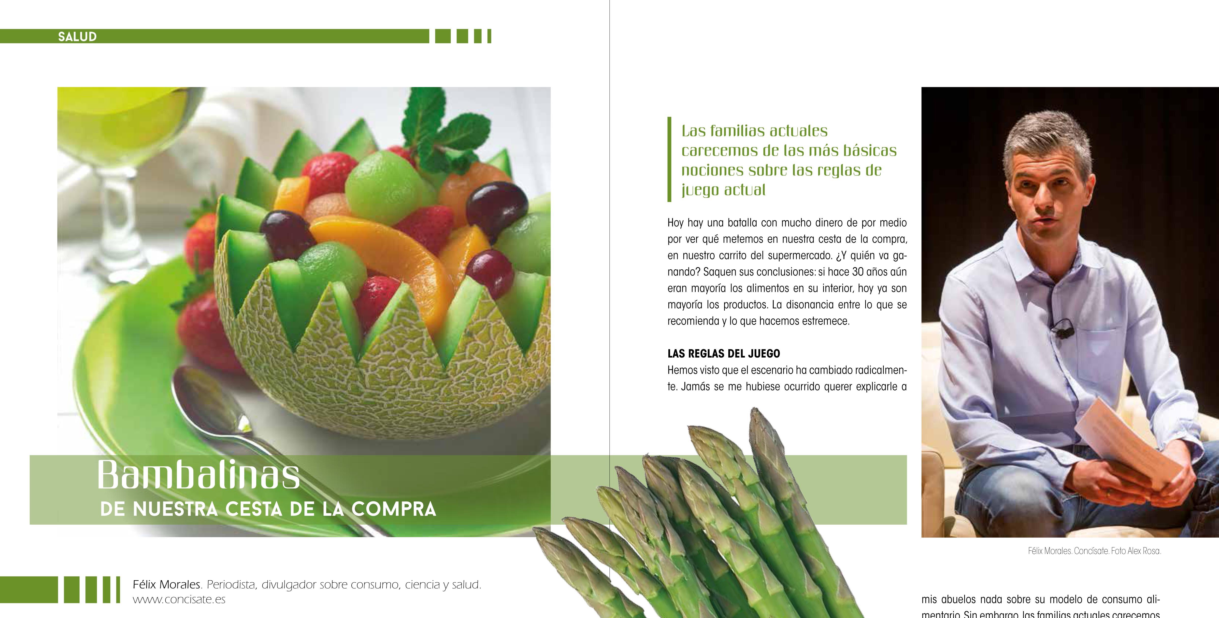 Félix A. Morales Concísate artículo consumo salud alimentación revista En Forma