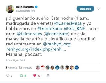 Félix A. Morales Concísate RNE Julio Basulto Carles Mesa Gente Sana Gente Despierta