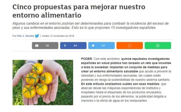 Félix A. Morales Consumer alimentación saludable entorno salud pública Concísate